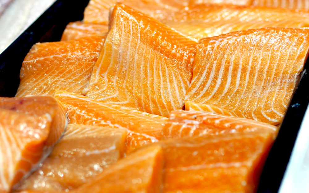 salmon is a source of omega 3 fatty acids which is an important nutrient for eye health