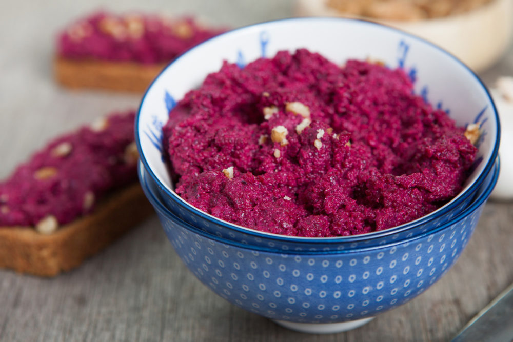 ricotta and beetroot dip