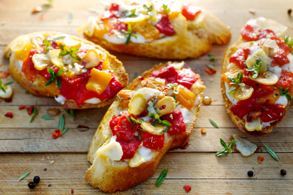 tomato and goats cheese bruschetta breakfast ideas for mother's day