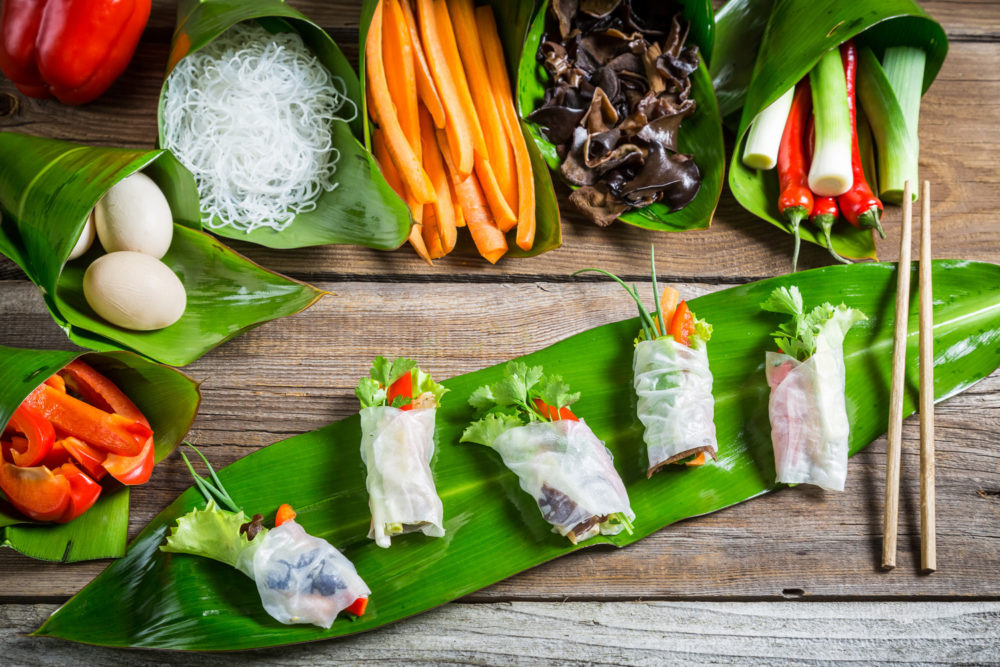 rice paper roll school holiday recipe