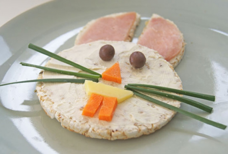 funny easter bunny snack