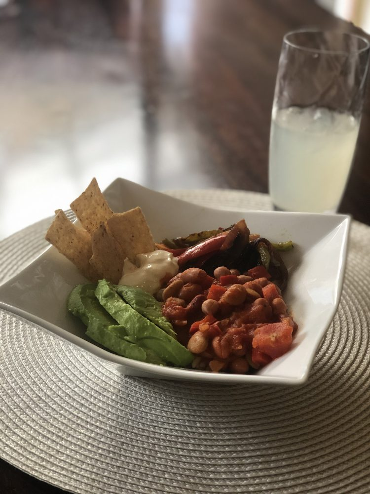 meat free mexican bowl